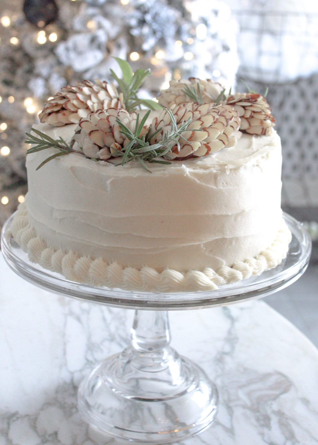 A Pine Cone Cake Creation for Winter Birthdays and Holidays