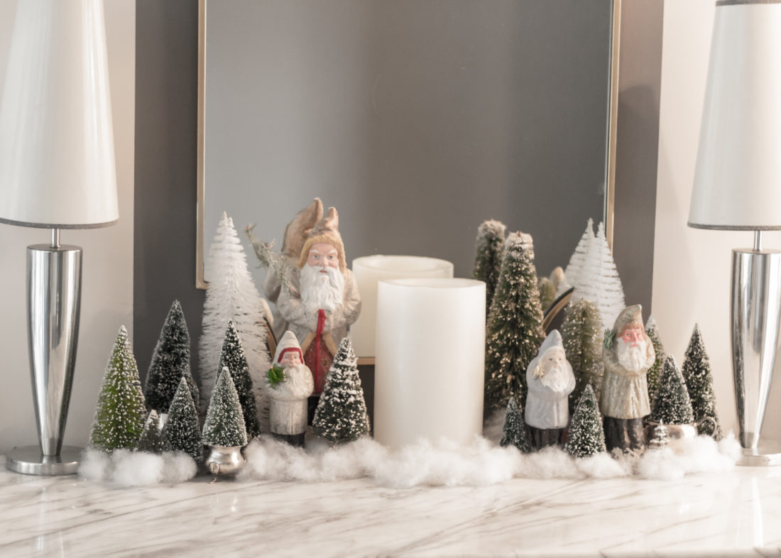 Christmas Home with Snowball Details and Ornaments