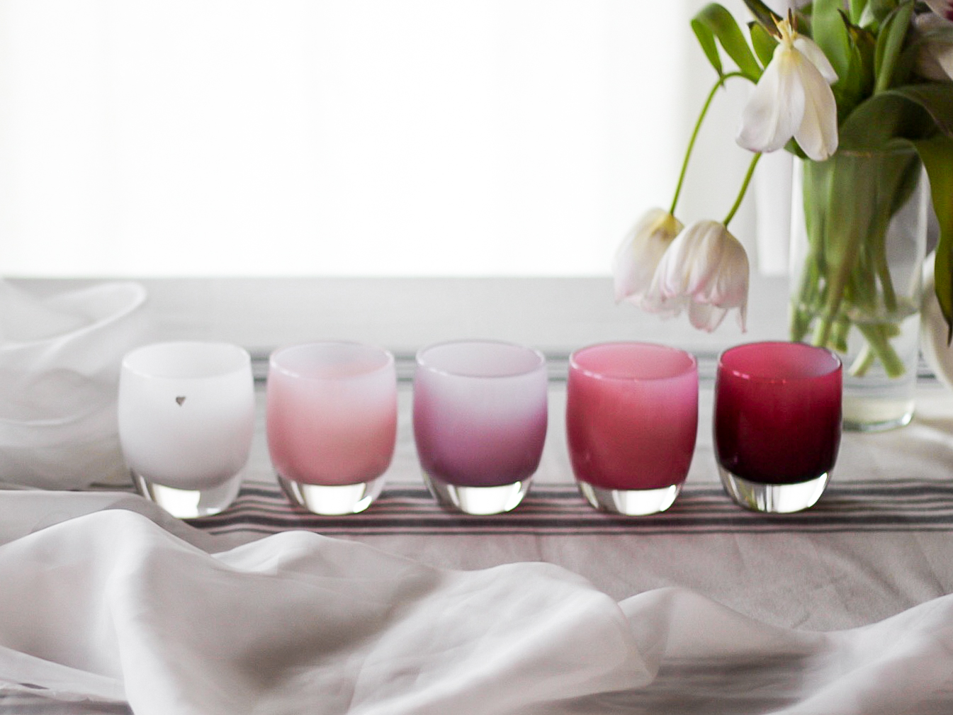 GlassyBaby Ombre' Candle Votives
