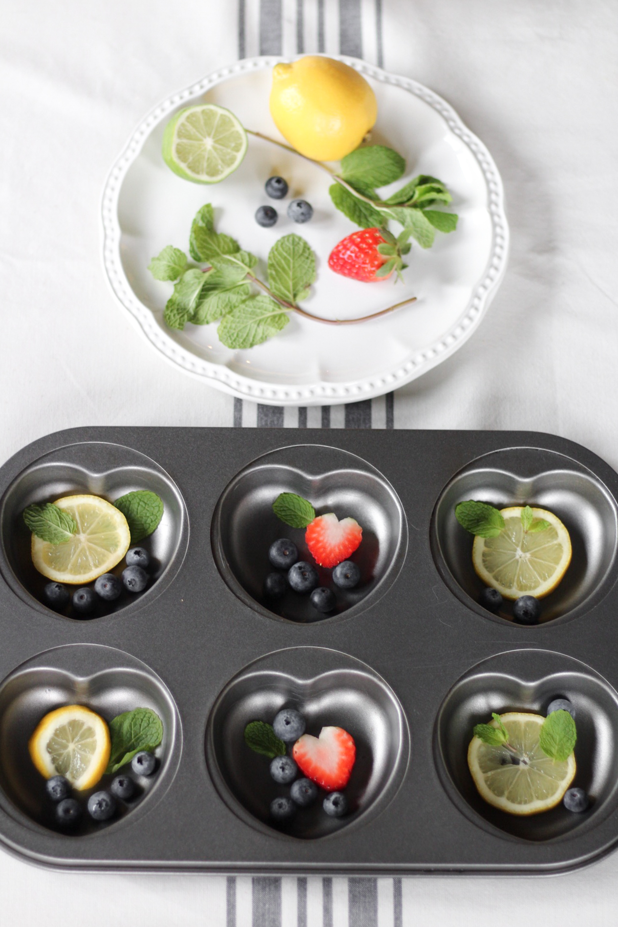 heart muffin tray for ice cube making